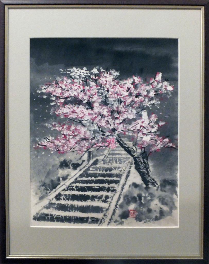 052 「石段の春」中野康彦