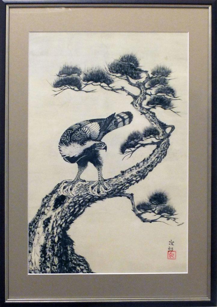065 「松と鷹」廣瀬次郎