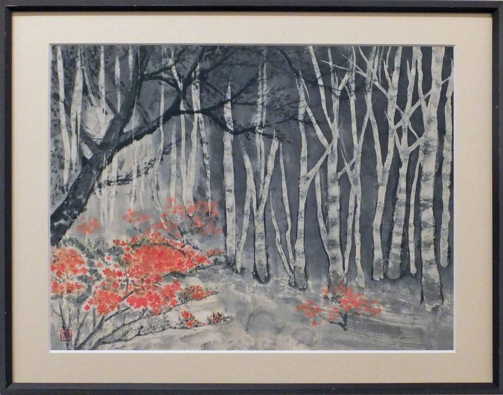 142 「白樺の森」須永文江