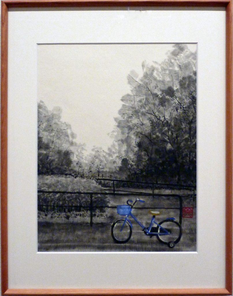 076 青い自転車 河村美代子