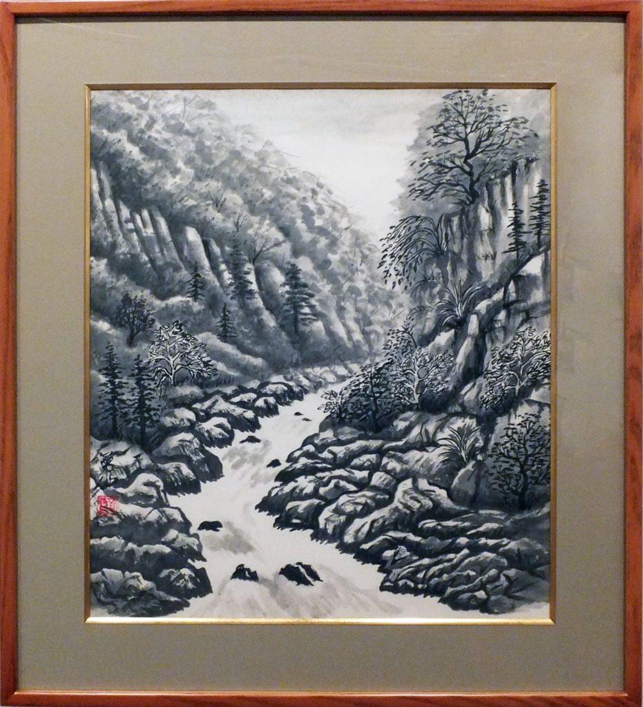058  渓流図  池谷勇