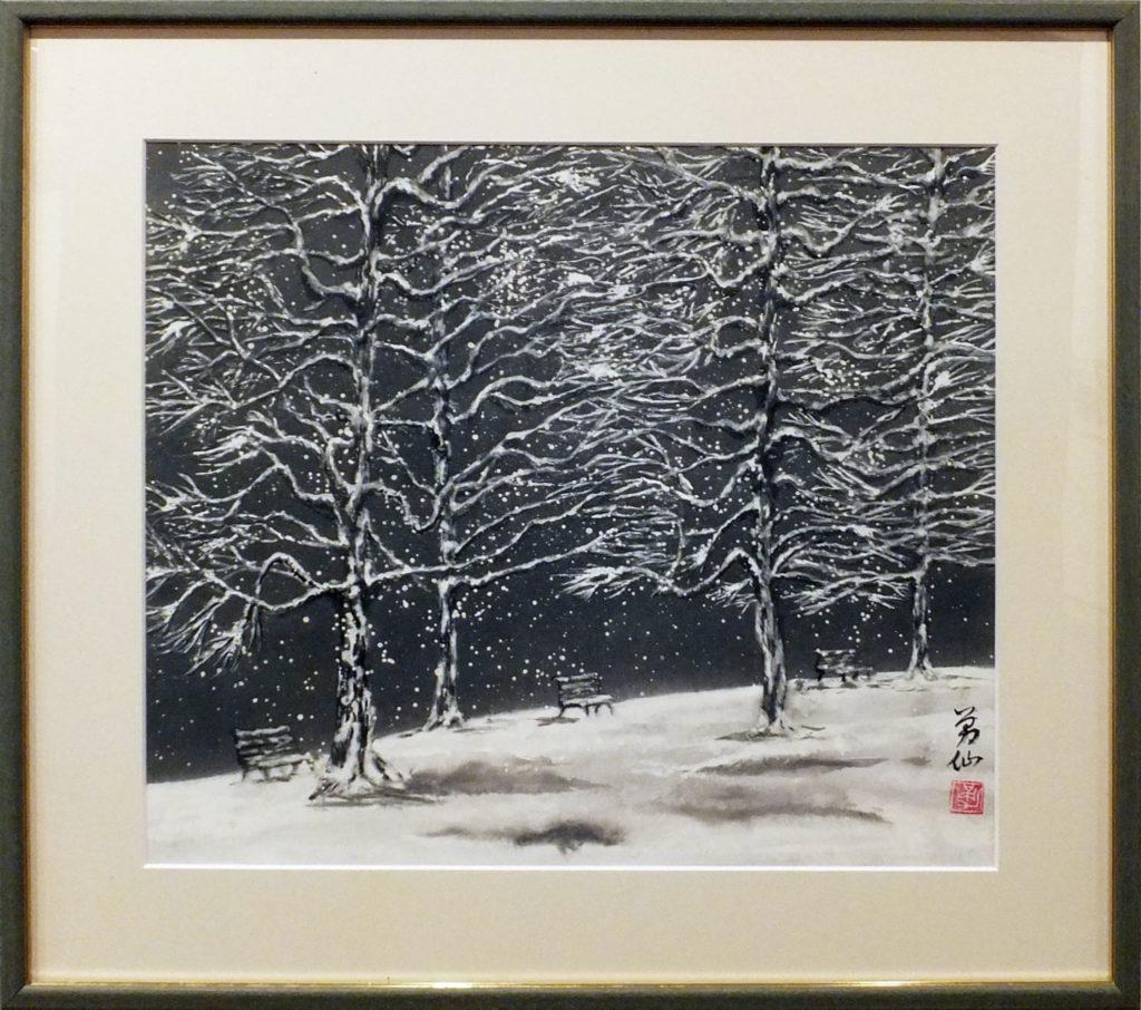 059  雪夜の公園  池谷勇