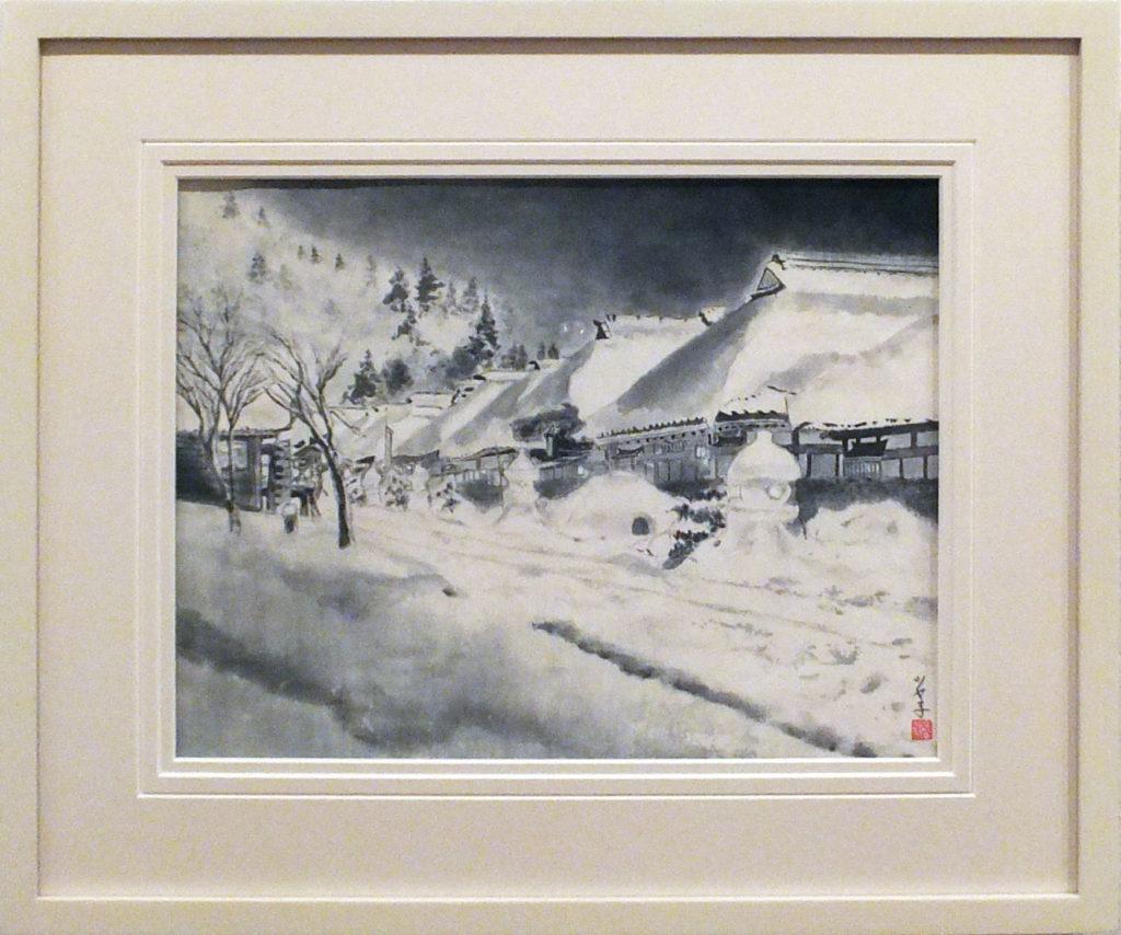 062  雪の大内宿  岩本ツヤ子