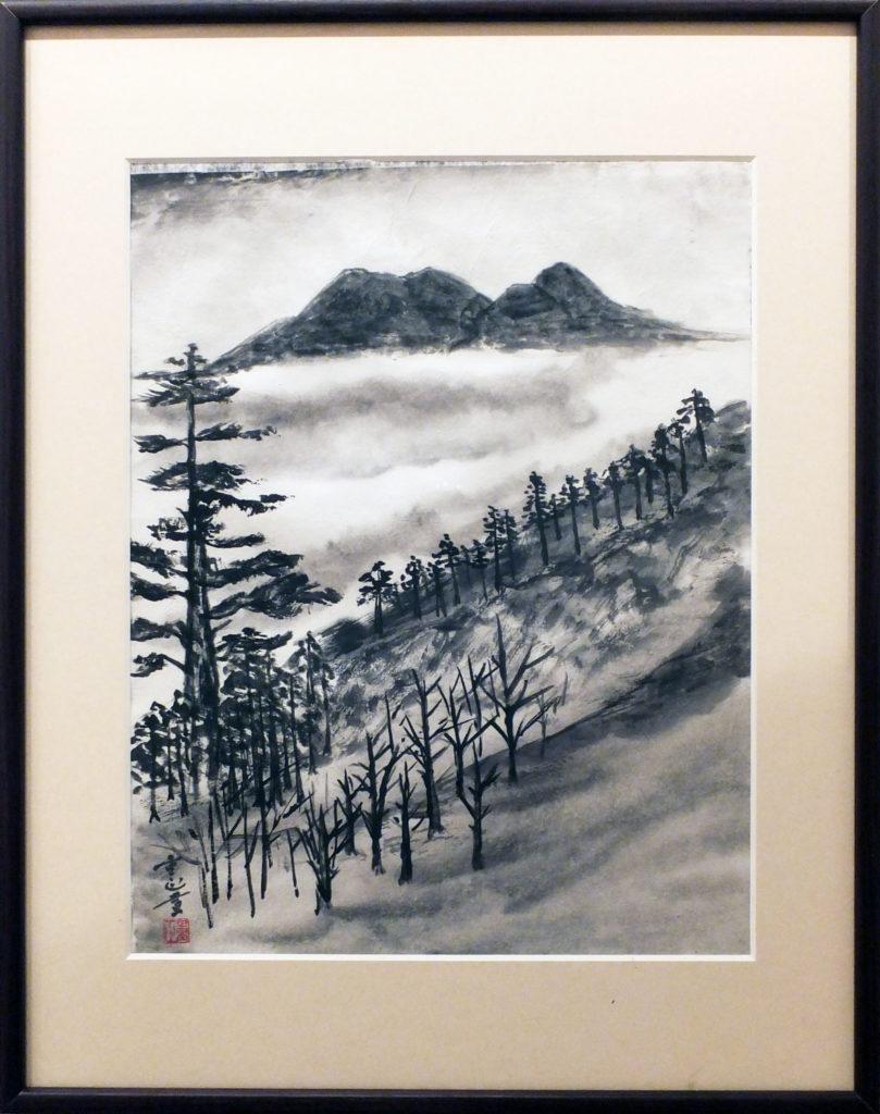 127 石鎚山を望む 江田重正