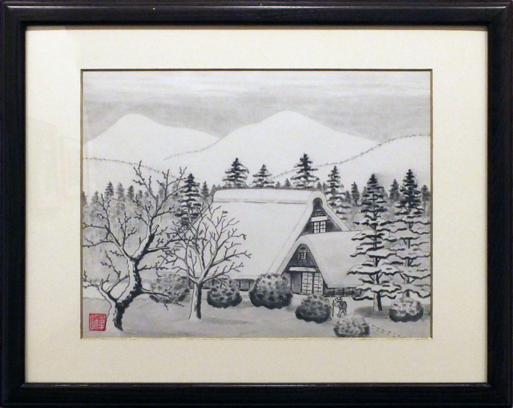 131 里の雪景色 荻野幸男