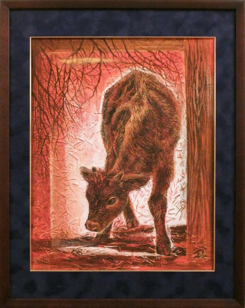 179 赤い牛(3枚組3) 戸田みどり