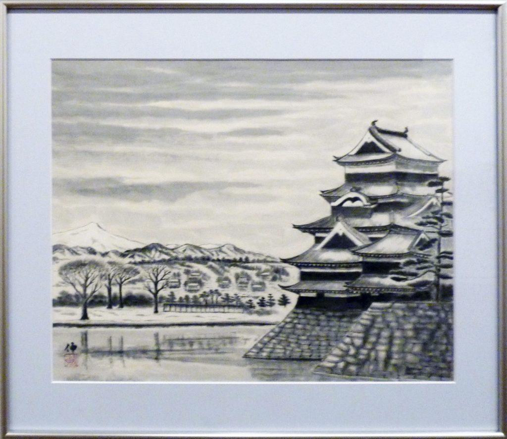 093 初冬の松本城 勝呂伸之助
