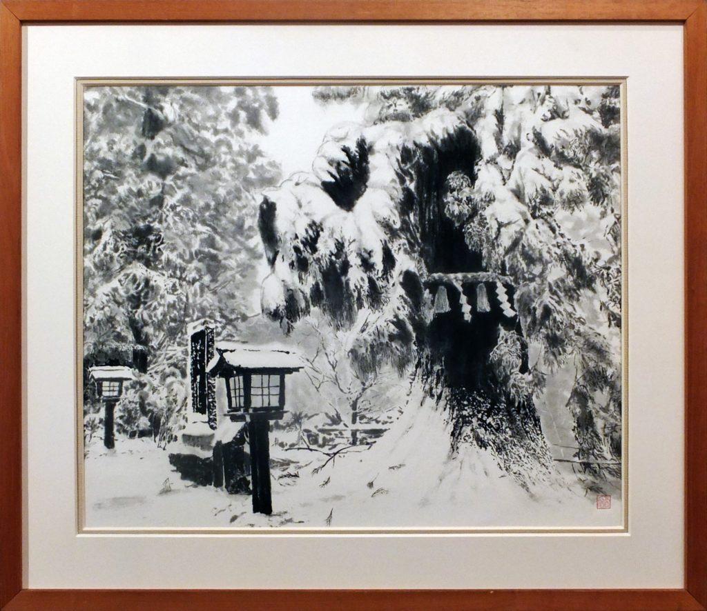 110 雪の高尾山道 河原 公治