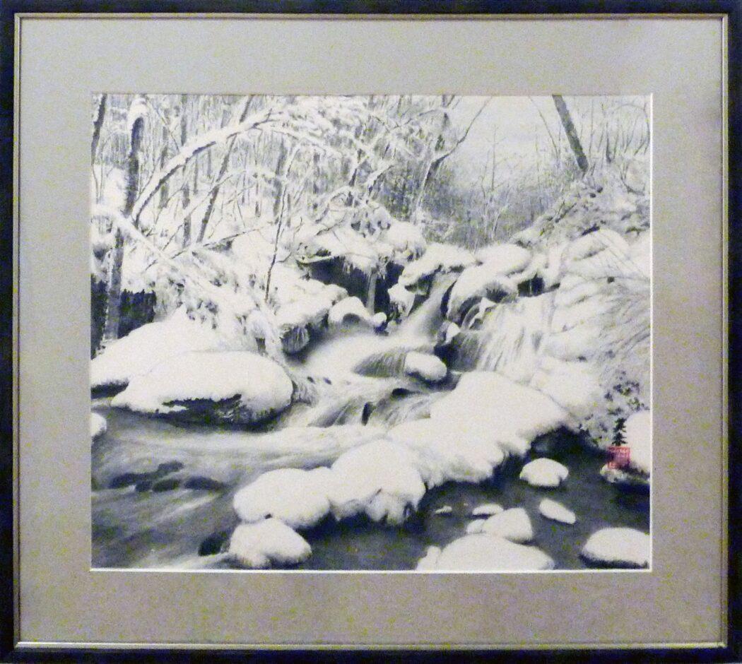 77 萩原英春 積雪の渓流